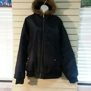 Woman's Thick black winter jacket